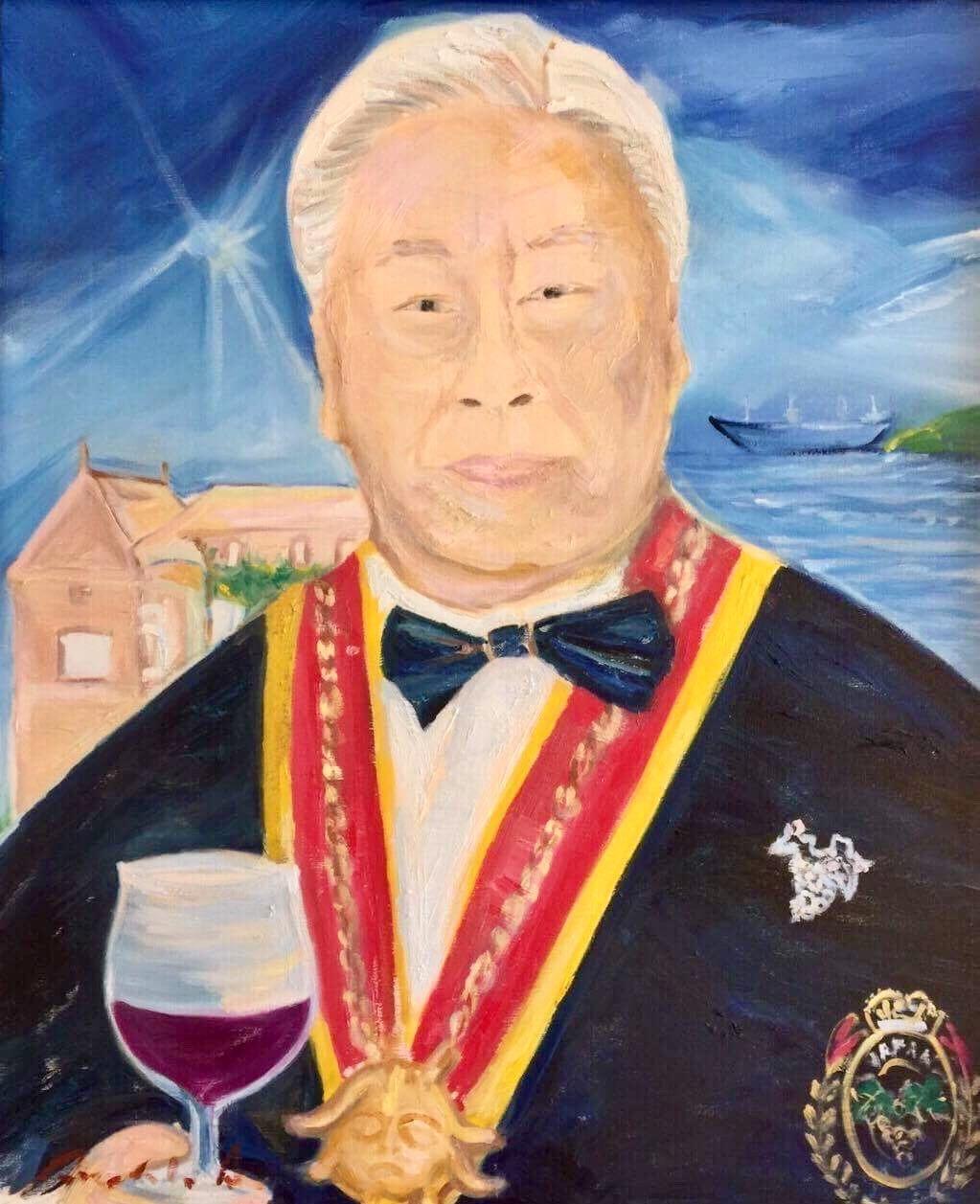 元日本ソムリエ協会名誉会長 熱田貴様に肖像画を納品させて頂きました。