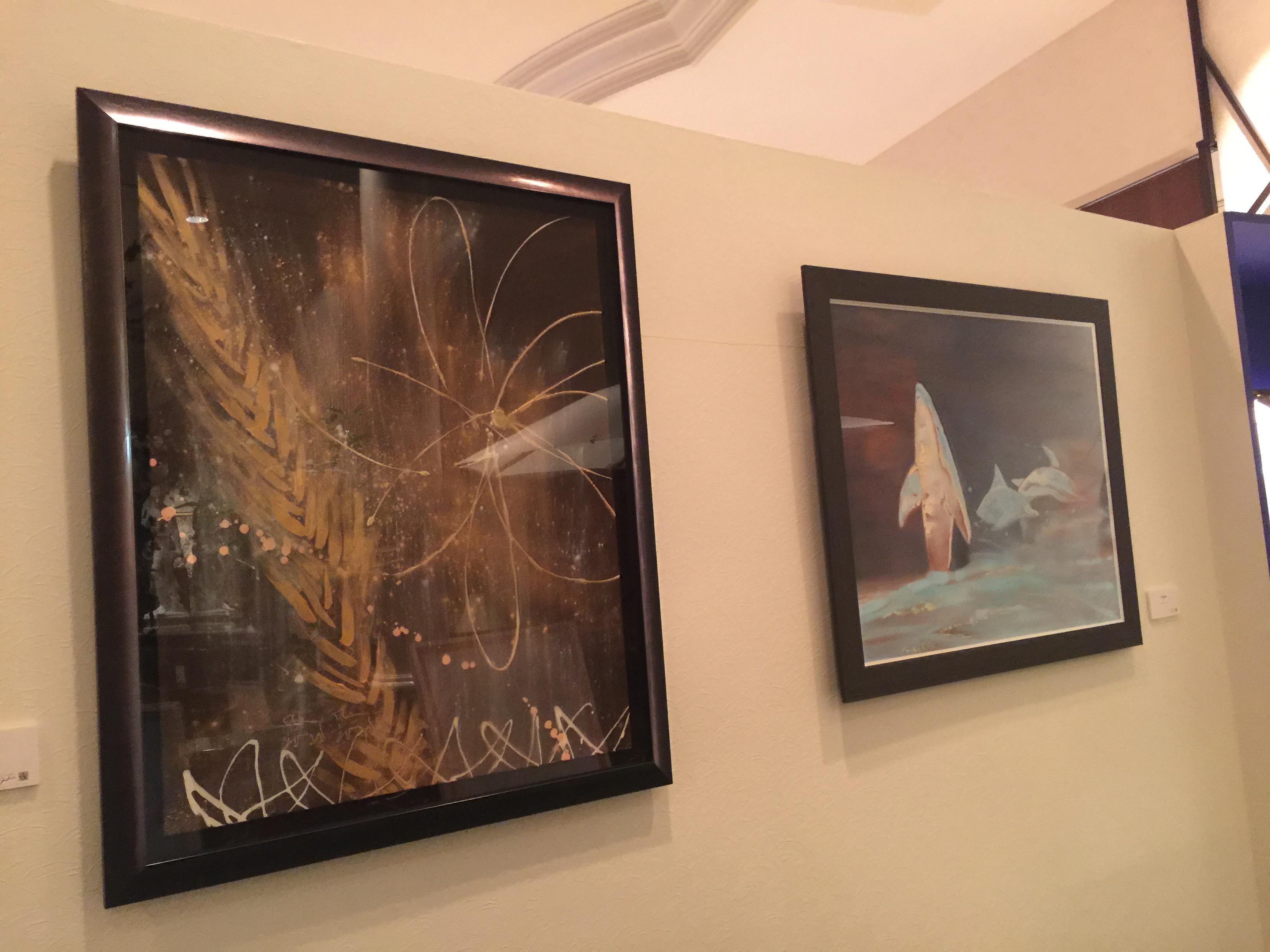 Nostalgia - 望郷 -  (left: 名古屋マリオット個展より)<br /> Ocean (right: 名古屋マリオット個展より)