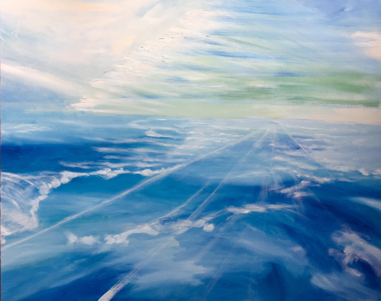 星雲  (F40号 100 × 80.3 cm)<br /> <br /> 油絵・Oil on Canvas <br /> <br />
